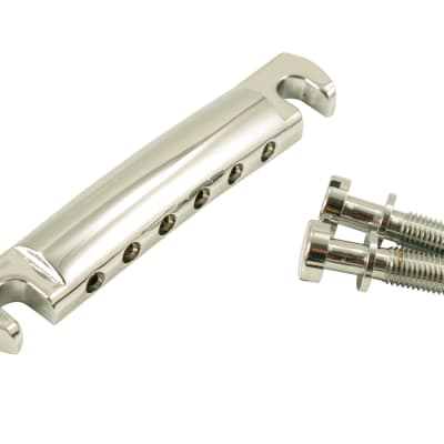 Kluson USA Aluminum Stop Tailpiece With Steel Studs Chrome