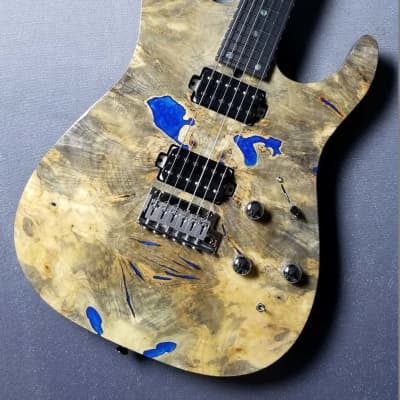 T's Guitars DST-Pro24 Custom Natural【Buckeye Burl w/Resin / Ash】Japanese Handmade Brand for sale