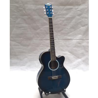 Starsun DRW9716EQ Guitarra electro acustica Transparent Blue for sale