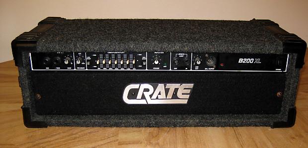 crate b200xl bass amp head 200w reverb. Black Bedroom Furniture Sets. Home Design Ideas