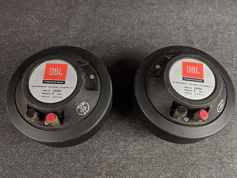 JBL 2426H Compression Drivers Pair of Horn Speakers 8 ohms Made In USA