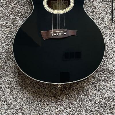Ibanez EP10-BP Euphoria Steve Vai Signature Solid Spuce/Mahogany Acoustic/Electric Guitar Pearl Black for sale