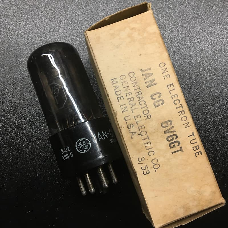 General Electric JAN Cg 6V6GT Tube True USA Military Surplus New Old Stock  6v6