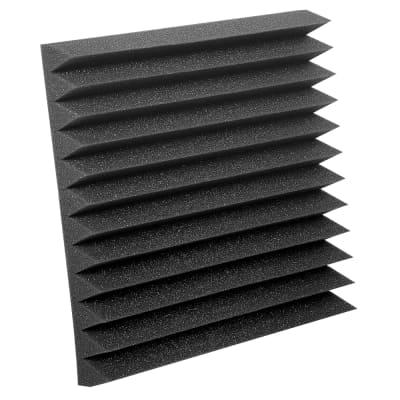 """Studiofoam® Wedgies™ - Panels Qty 24, 12""""x12""""x2"""" Charcoal"""