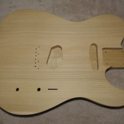 Unfinished Telecaster Body 1 Piece Poplar Standard Pickup Routes Really Light 4 Pounds 6 Ounces!