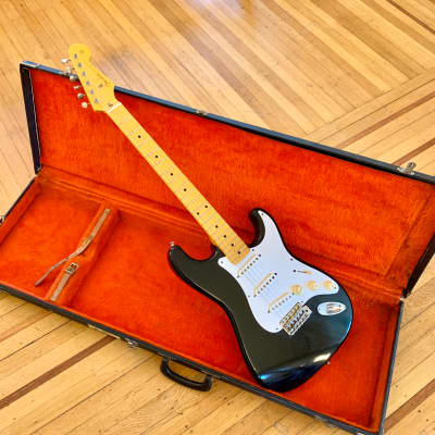 Fender '57 Stratocaster RI Blackie ST-57 original vintage crafted in cij mij japan strat for sale