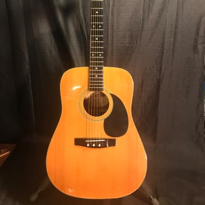 Carlos 438 Korean Dreadnought Acoustic Guitar 1970's Natural/Laquer Polish for sale