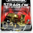 Dunlop Strap Locks - Guitar -Original Slim Button Strap Retainer System Brass image