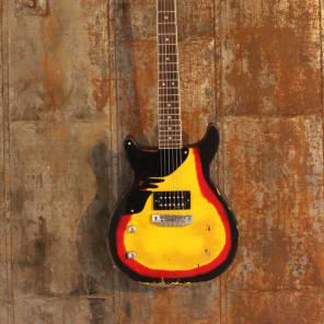 Margasa USA Joker Custom Double Cutaway LEFTY Guitar, 70's Burst, Vintage Modern