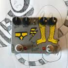 "The Fat Gett - glitchy suboctave harmonic craziness fuzz - hand painted ""yellow pins & yellowy keks"" image"