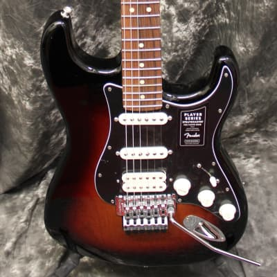 Fender Player Stratocaster HSS Floyd Rose Pau Ferro 3-Color Sunburst Electric Guitar for sale