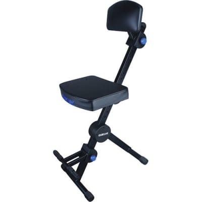 Quik-Lok DX-749 Height Adjustable Musicians Stool w/ Adjustable Footrest & Backrest, Free Shipping