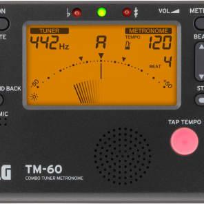 KORG TM-60 Chromatic Tuner & Metronome Black TM60BK Tunes Any Instrument