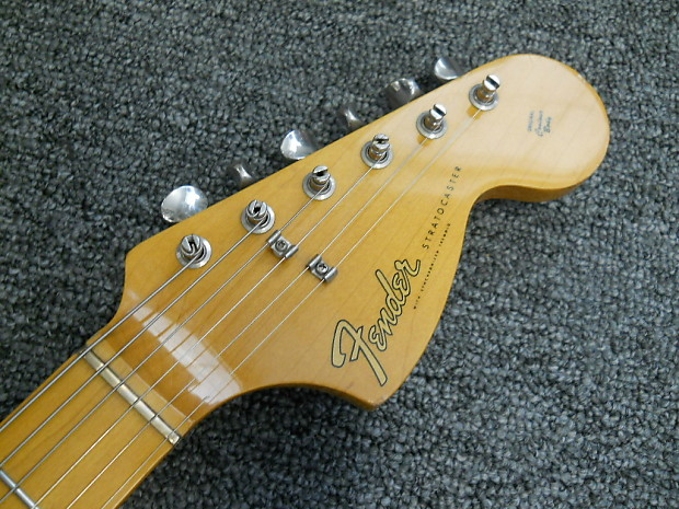 1989 Fender Mij Stratocaster 67 Reissue St 67 Black W