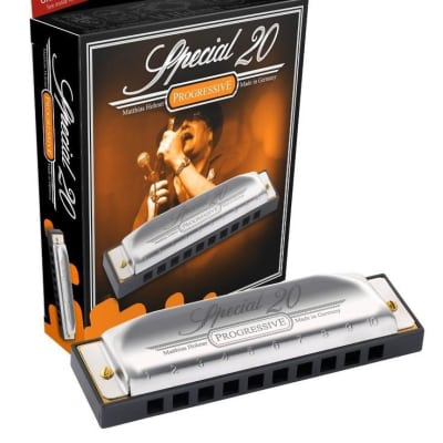 HOHNER Special 20 Harmonica, Key C#(Db), Made In Germany, Includes Case, 560BL-C#