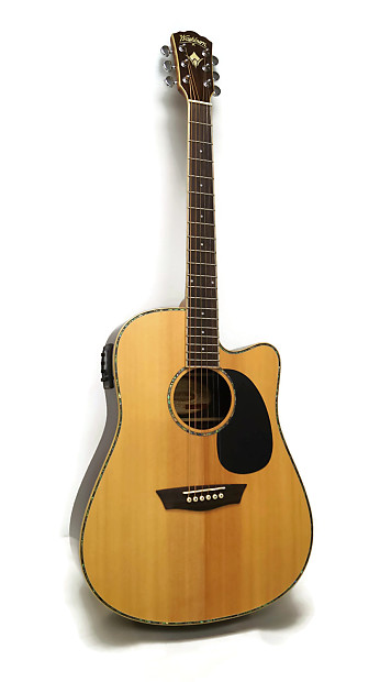 washburn wd27sce dreadnought cutaway acoustic electric guitar reverb. Black Bedroom Furniture Sets. Home Design Ideas