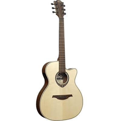 LAG T270ASCE Auditorium Natural Engelmann Spruce Slimbody Electro Cutaway Acoustic Guitar for sale