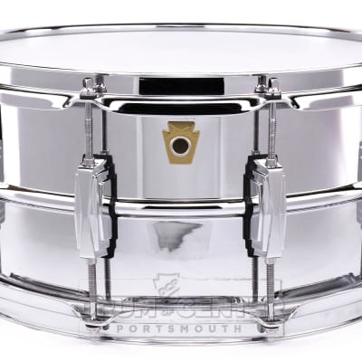 Ludwig Supraphonic Chrome Over Brass Snare Drum 14x6.5