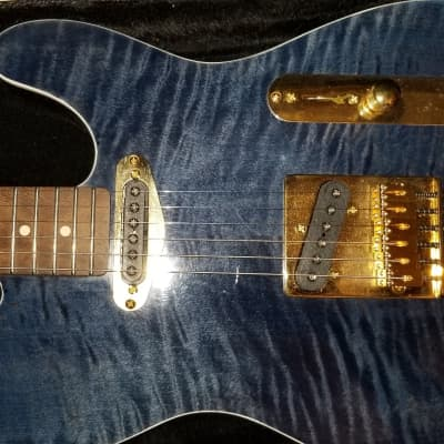 Warmoth  Tele Style  2017  Blue/black Flame