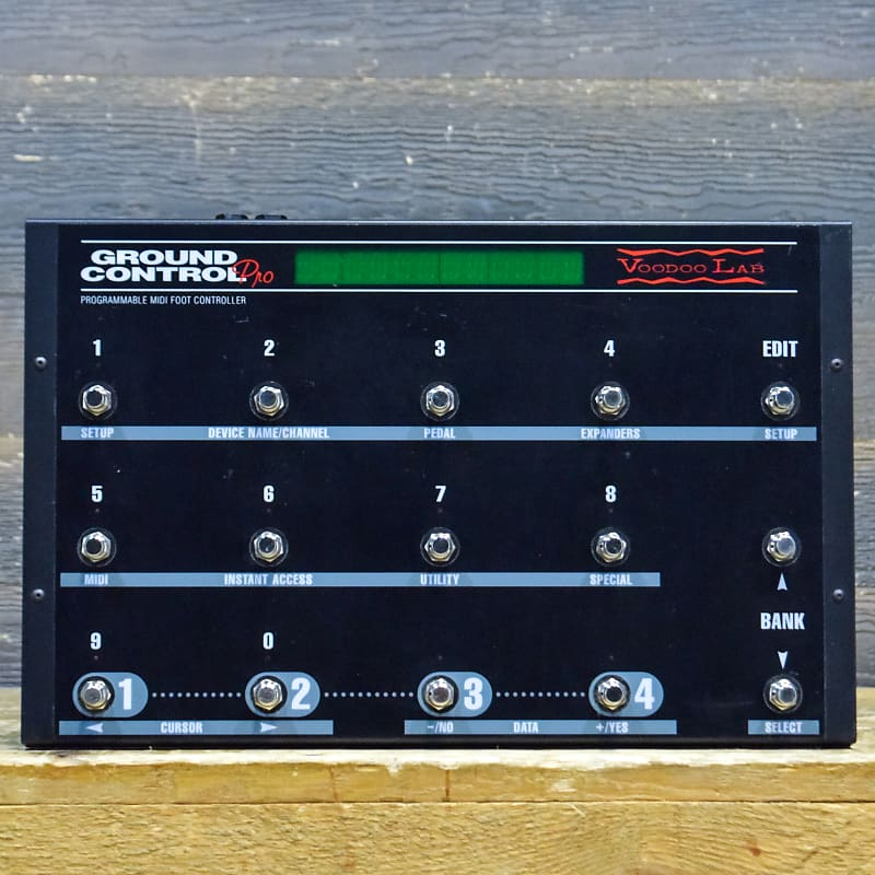 Voodoo Lab Ground Control Pro Programmable MIDI Foot Controller Switcher  #9384