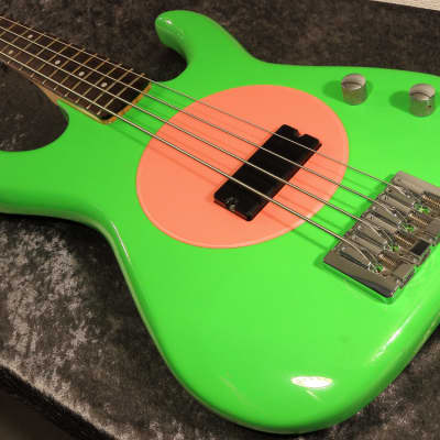 Fleabass Model 32 Green and Pink Punk Bass for sale