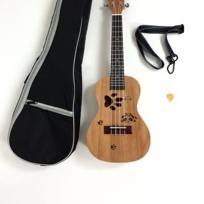 Haze UK23-AI Panda All-Mahogany Concert Ukulele +Free Padded Bag,Hook Strap,Pick for sale