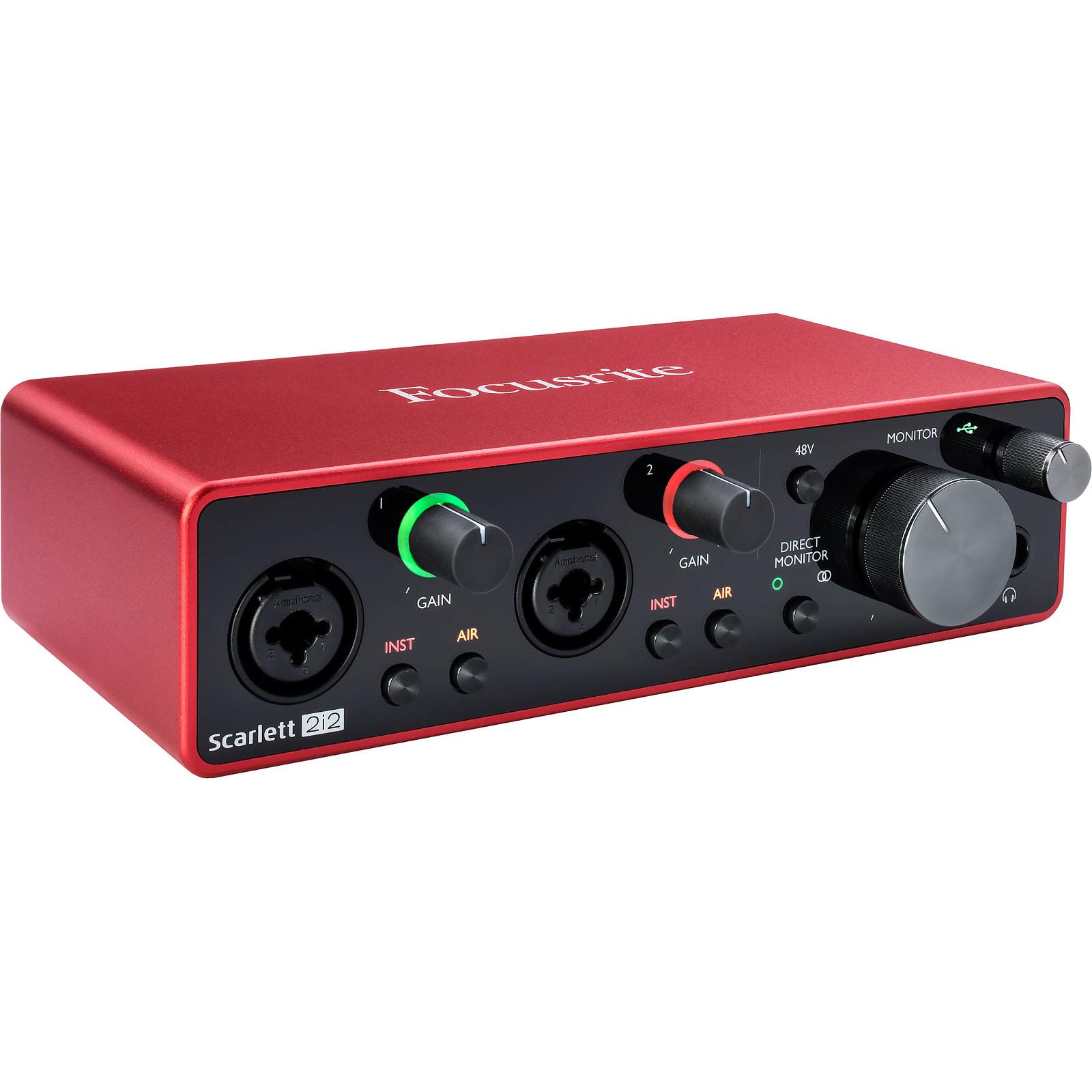 Focusrite Scarlett 2i2 USB Audio Recording Interface (3rd Gen)