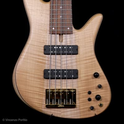 Fodera Emperor standard 5  classic maple 2019 satin clear for sale
