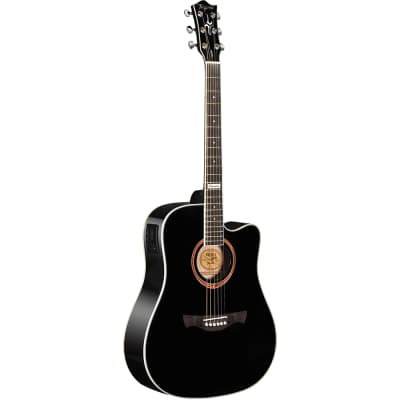 Tagima Guitars America Series Kansas T Acoustic Electric Guitar, Black for sale