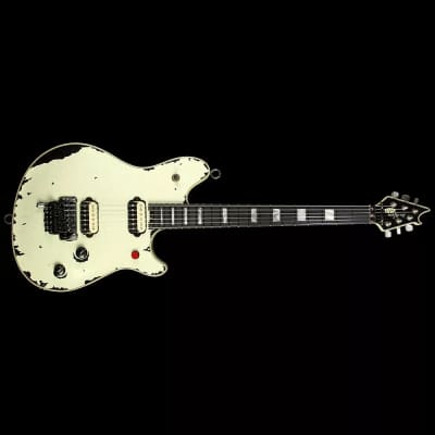 EVH Wolfgang Limited Tour Relic with Floyd Rose and Killswitch Ivory over Stealth Black Relic