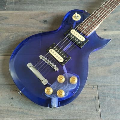 Galveston Lucite/Acrylic Single Cutaway (Transparent Blue) for sale