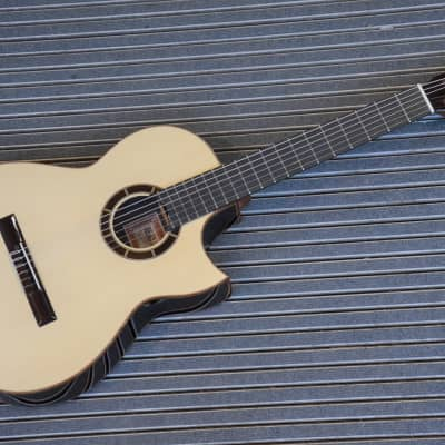 Aranjuez Terra Nueva professional nylon guitar f.stage+studio*TOP tone*super rare*alpine spruce top for sale