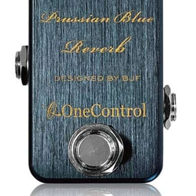 One Control Prussian Blue Reverb Electric Guitar Effect Pedal BJF Series for sale