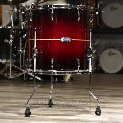 Pearl Masters Maple Complete 14x14 Floor Tom- Natural Banded Redburst