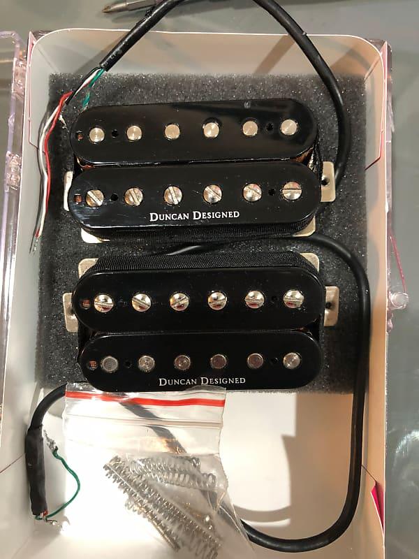 Duncan Designed Humbucker Set Black Hb103b And Hb101n