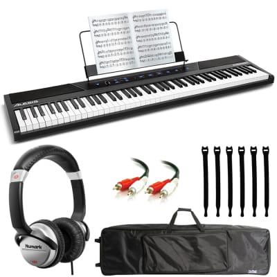 Alesis Concert 88-Key Digital Piano + Numark DJ Headphones + Keyboard Bag + Audio Cable