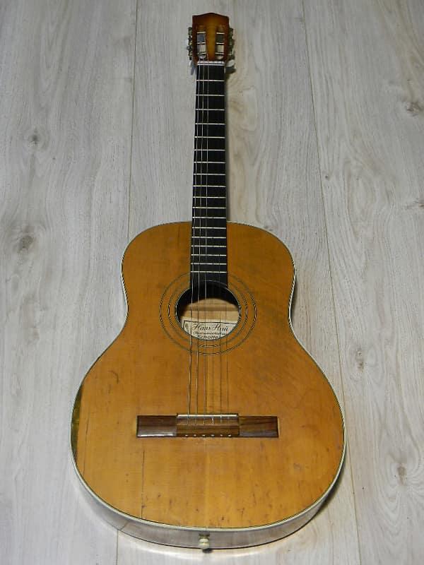 vintage Hans HAU flat top Akustik Gitarre guitar guitare Schotten Germany 1960` image