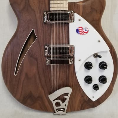 Rickenbacker 360 12 String Stereo Deluxe Electric Guitar Thinline, Semi-acoustic Hollow Body, Walnut W/case for sale