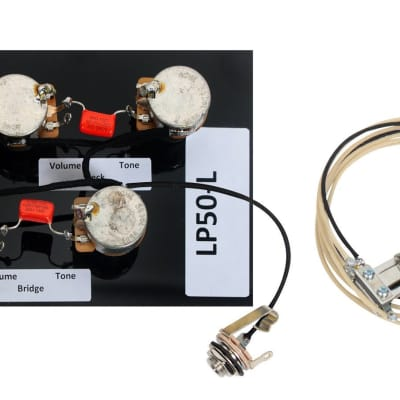 premium 1956 60 pre wired les paul wiring harness kit cts reverb920d custom shop les paul pre wired long shaft cts switchcraft orange