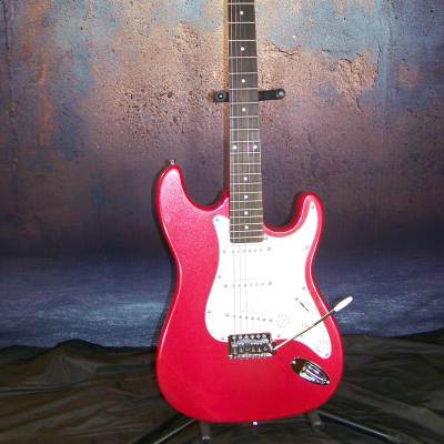 Crescent Stratocaster Style Electric Guitar 2010s? Metalic Red for sale