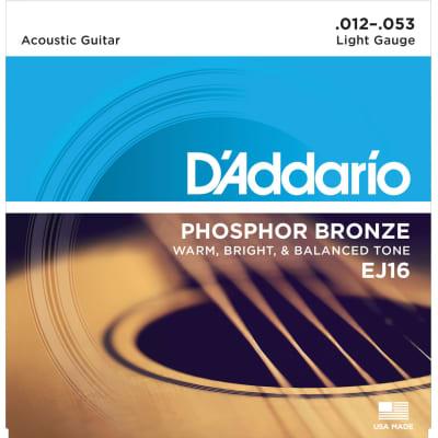 D'Addario EJ16 Phosphor Bronze Light Acoustic Strings 3-Pack