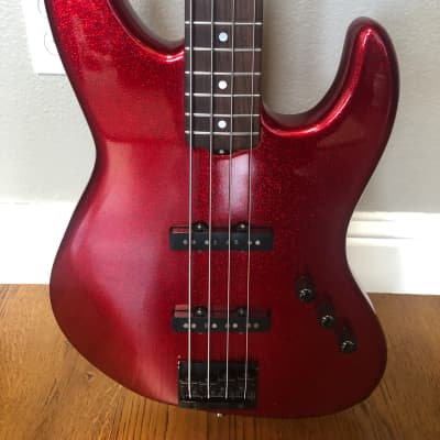 Michael Dolan Custom Bass 1998  Ruby Red sparkle for sale