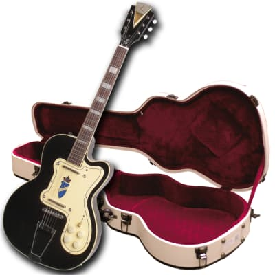 Used-Customer Return- Kay Reissue K161VBK Thin Twin Electric Guitar-w/Case-Black for sale