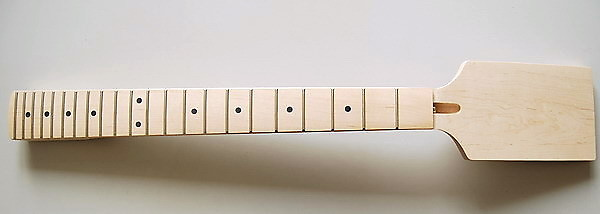 Eden Angled Paddle Guitar Neck 22 Frets Dot Inlay