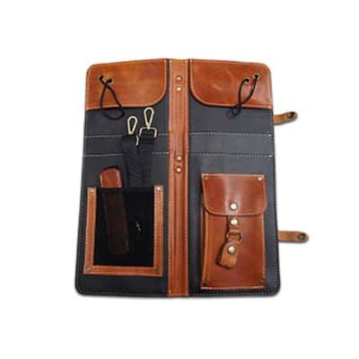 Ahead Bags - ALSCT - Tan Handmade Leather Stick Case w/Drum Key Holder