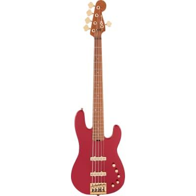 Charvel Pro-Mod San Dimas Bass JJ V CM Candy Apple Red 5-String Electric Bass Guitar for sale