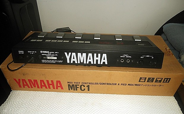yamaha mfc 1 foot controller midi pedal made in japan new old reverb. Black Bedroom Furniture Sets. Home Design Ideas