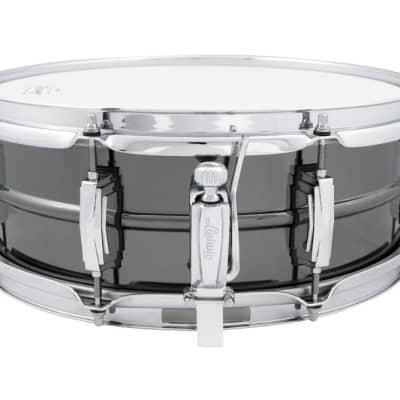 "Ludwig LB414 Black Beauty 5x14"" 8-Lug Brass Snare Drum"