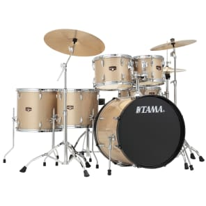 """Tama IP62NCCHM Imperialstar 10/12/14/16/22/5x14"""" 6pc Drum Set with Meinl HCS Cymbals, Hardware"""