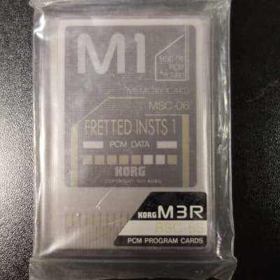 Korg M3R Memory Cards RSC-6S Fretted Insts 1 1989